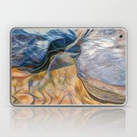 Abstract beautiful rocks on the sand Laptop & iPad Skin