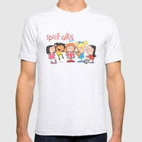 Spice Girls Kids Mens Fitted Tee Ash Grey SMALL