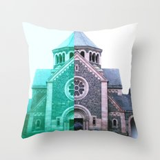 Cracked church... Throw Pillow