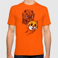 Devil in Disguise Mens Fitted Tee Orange SMALL