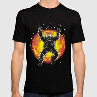 Lost in the space Mens Fitted Tee Black SMALL