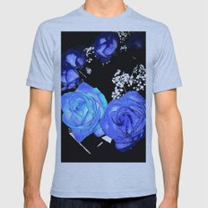 Roses Mens Fitted Tee Athletic Blue SMALL