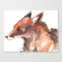 Angry Fox Canvas Print
