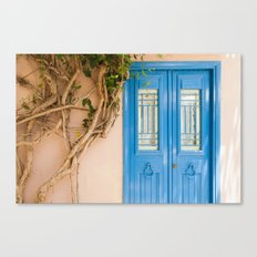 Blue Door in Chania, Crete Canvas Print