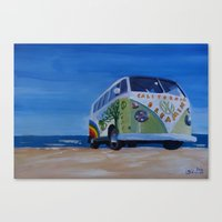 Surf Bus Series - Califo… Canvas Print