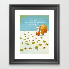 I think i found one - cartoon art print Framed Art Print