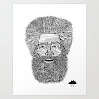 Afro Beard Man Art Print