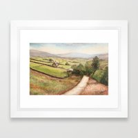 Yorkshire Farmland Framed Art Print