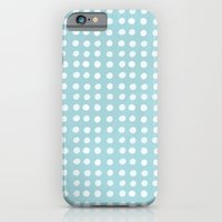 Blue Polka Pattern iPhone 6 Slim Case