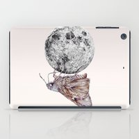 In which a moth is enticed by the light of the moon iPad Case