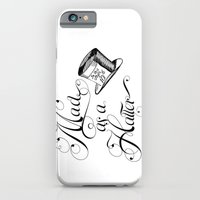 iPhone & iPod Case featuring Alice in Wonderland Mad As A Hatter by DigitalThings 2.0