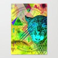 Intergalactic Leopard Canvas Print