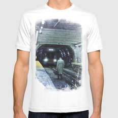 The Escape White Mens Fitted Tee SMALL