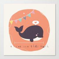 Wanda Whale Canvas Print