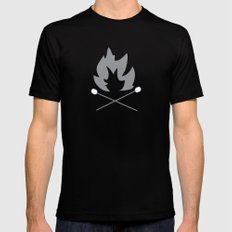 Bonfire Black Mens Fitted Tee SMALL