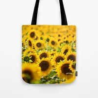 Through Fields of Light - Sunflowers Tote Bag