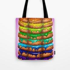 Donuts I 'Sweet Rainbow' Tote Bag