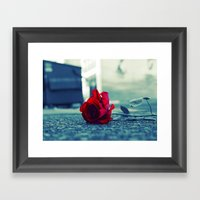 Tacoma Rose Framed Art Print
