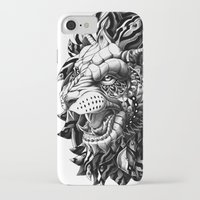 lion iPhone & iPod Cases featuring Lion by BIOWORKZ