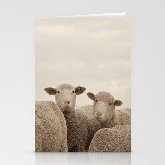 Smiling Sheep  Stationery Card
