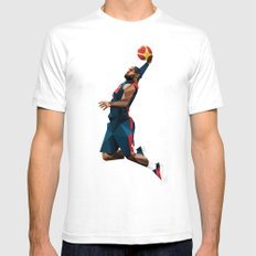 LeBron James Mens Fitted Tee White SMALL