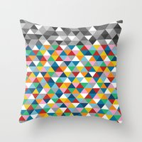 Triangles With Topper Throw Pillow