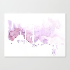 Watercolor landscape illustration_Istanbul Canvas Print