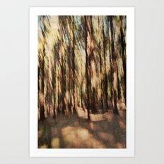 woodland abstract Art Print