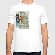Denied Attention Mens Fitted Tee White SMALL