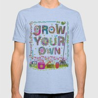 Grow Your Own Mens Fitted Tee Athletic Blue SMALL