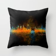 London City Skyline HQ V… Throw Pillow