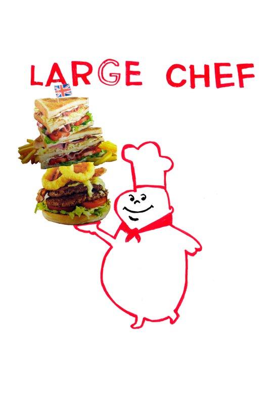 large chef Canvas Print