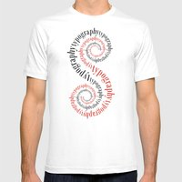 Typography Mens Fitted Tee White SMALL