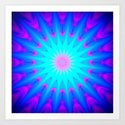 Pink & Blue Starlight  Art Print