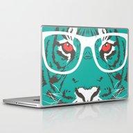 Bookish Big Cat Laptop & iPad Skin