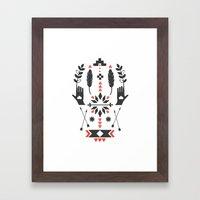 Norwegian Folk Graphic Framed Art Print