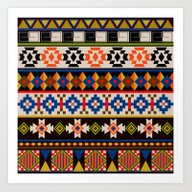 Colourful Tribal Aztec P… Art Print