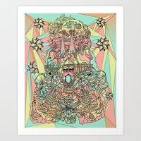 the functioning parts Art Print