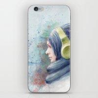 girl watercolor iPhone & iPod Skin