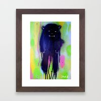 Night-bear Framed Art Print