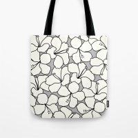 Hibiscus Animal Gray / G… Tote Bag