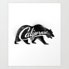 California Bear Stamp Art Print