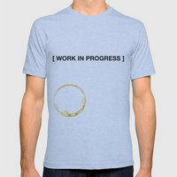 WORK IN PROGRESS Mens Fitted Tee Athletic Blue SMALL