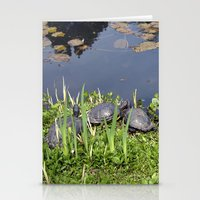 Turtles By A Water Pond … Stationery Cards
