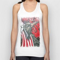 Raven graffiti Unisex Tank Top