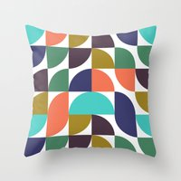 mod geo pattern Throw Pillow