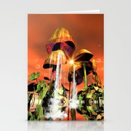 Mushrooms In The Sea Stationery Cards