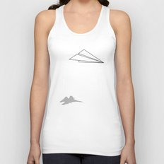 Paper Airplane Dreams Unisex Tank Top