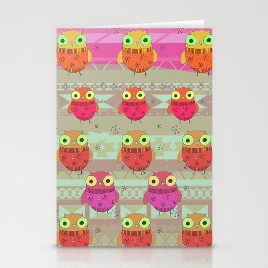 Winter owl Stationery Card