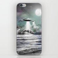 Whaling UFO iPhone & iPod Skin